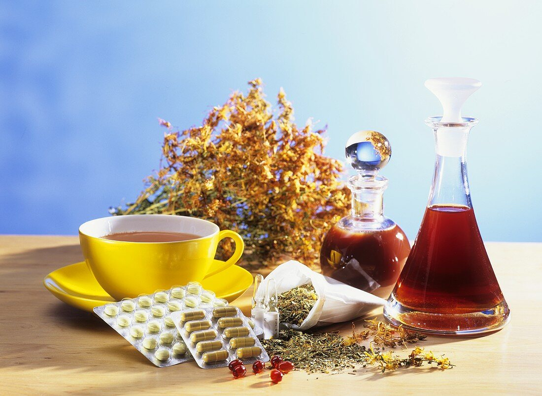 St. John's wort: flowers, dried, tea, tablets and extracts