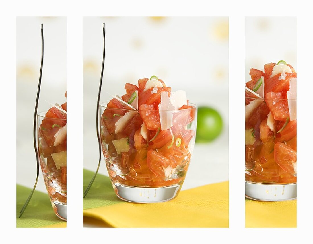 Tomato salad (artistic composition)