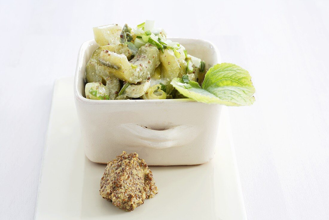 Cucumber in herb sauce (spicy side dish)