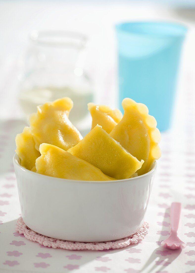 Filled pasta with quark filling (for children)