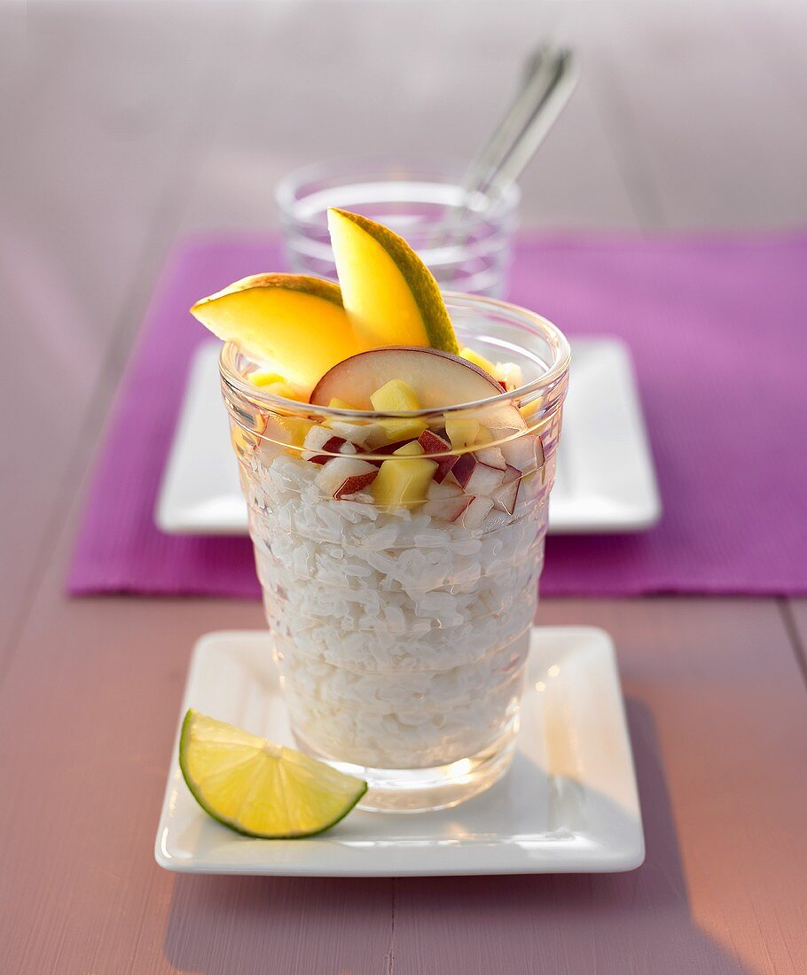 Sweet sticky rice with fruit (Thailand)