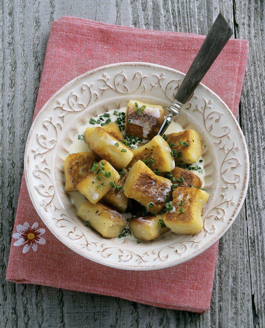 Potato Paunzen (a type of dumpling)