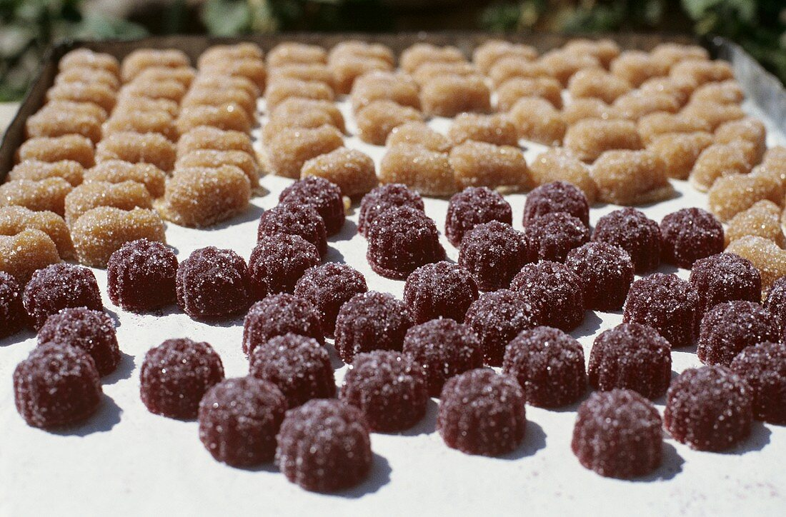Pate de fruits (Sugar-coated jelly sweets, France)