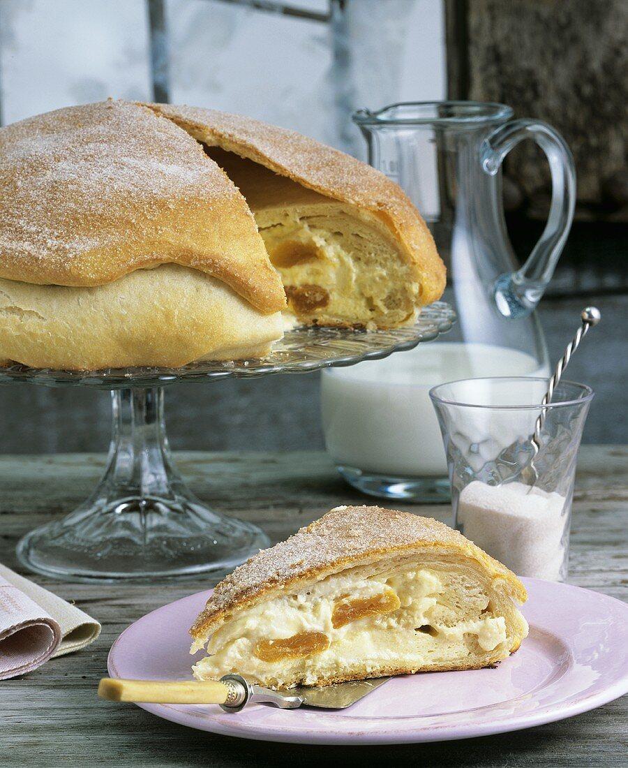 Gibanica (Curd cheese strudel pie, Slovenia)