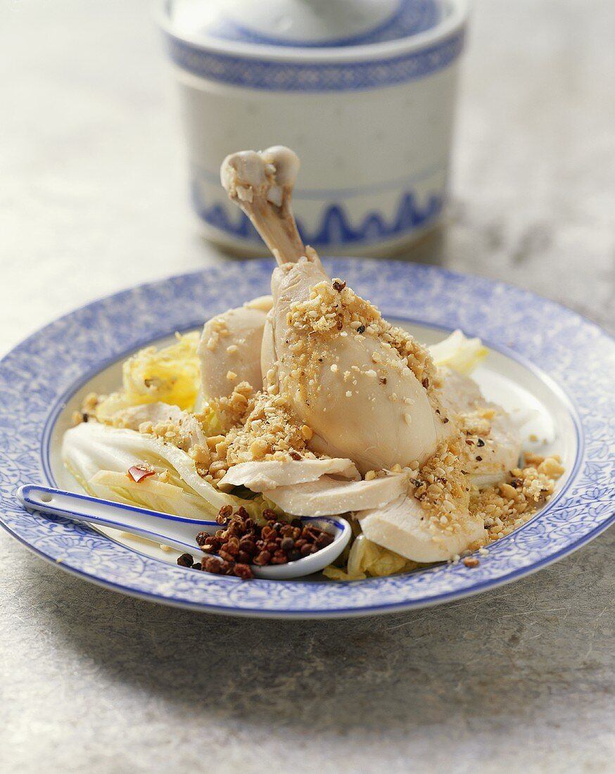 Cold ginger chicken in rice wine