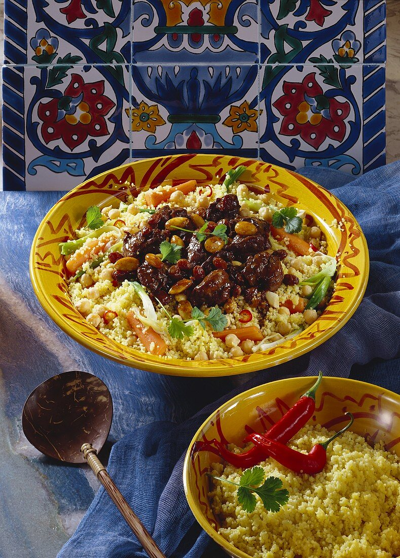 Duck ragout with couscous and vegetables