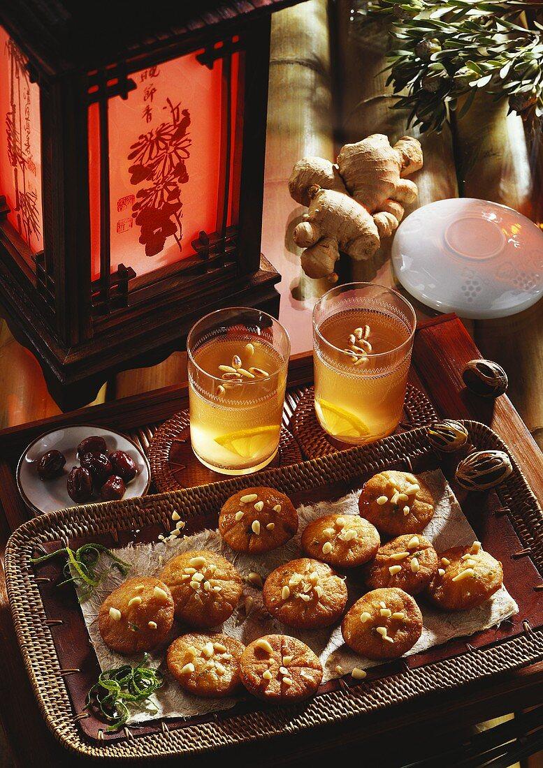 Jakkwa & Soo Chunkwa (Honey biscuits & ginger tea, Korea)