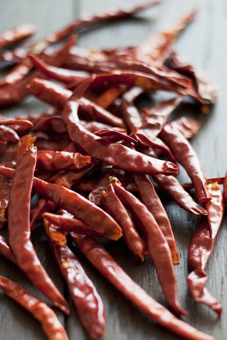 Lots of dried red chili peppers