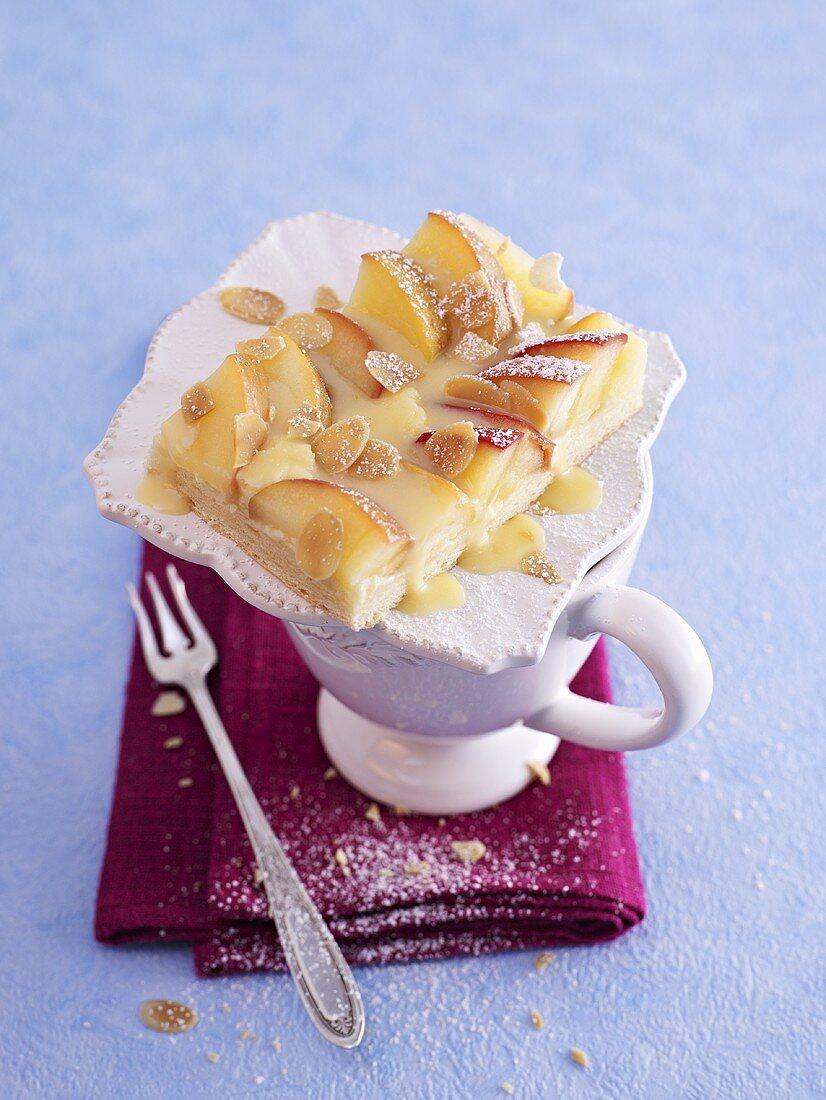 Apple and egg liqueur cake