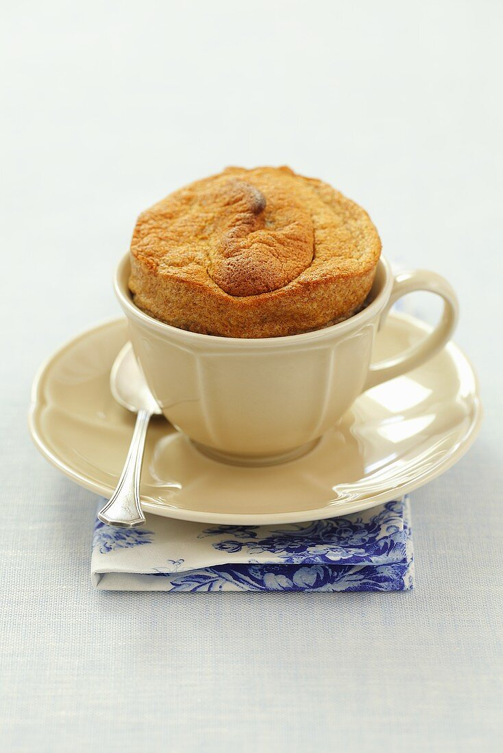 Banana souffle in a cup