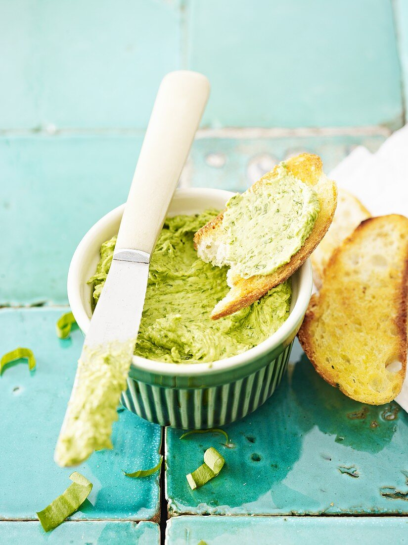 Chive and walnut butter