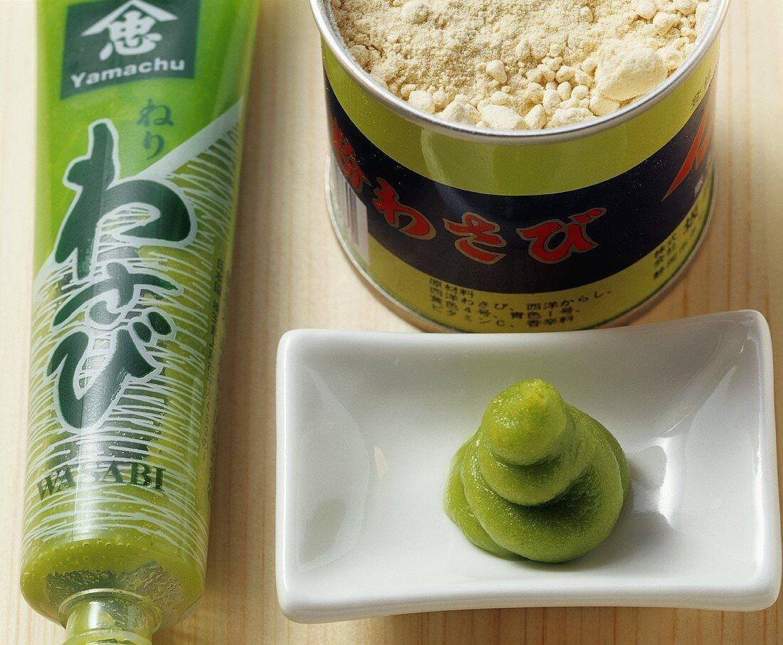 Wasabi paste and wasabi powder