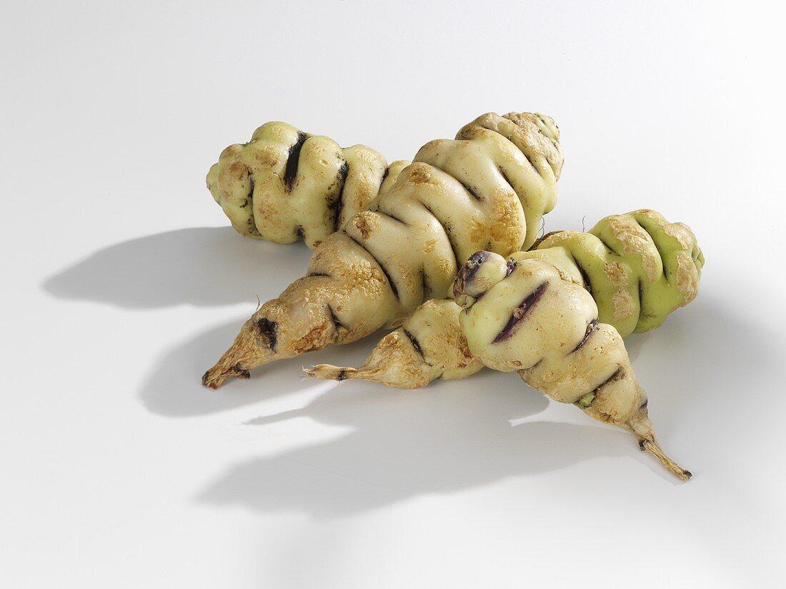 Four cubio tubers (mashua, S. America)