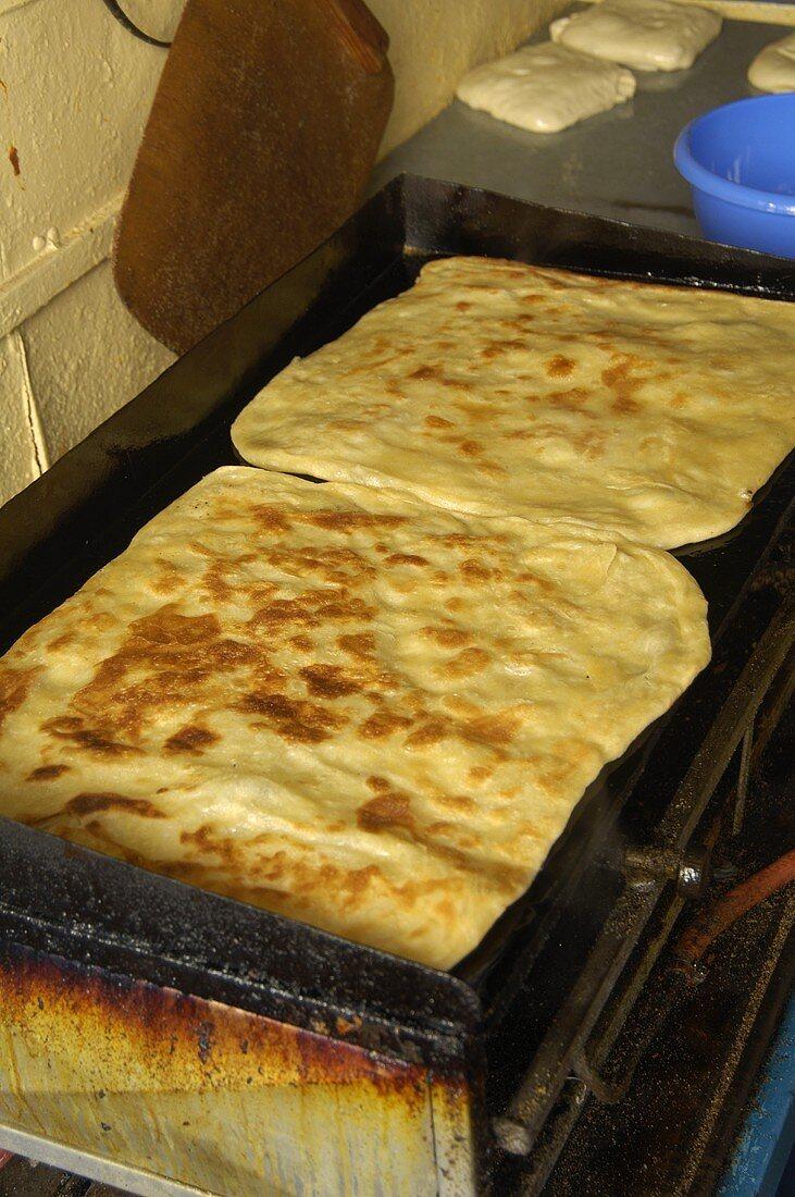 Flatbread on a grill (Essaouira, Morocco)