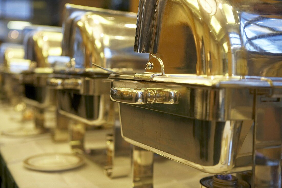 Chafing dishes for a buffet