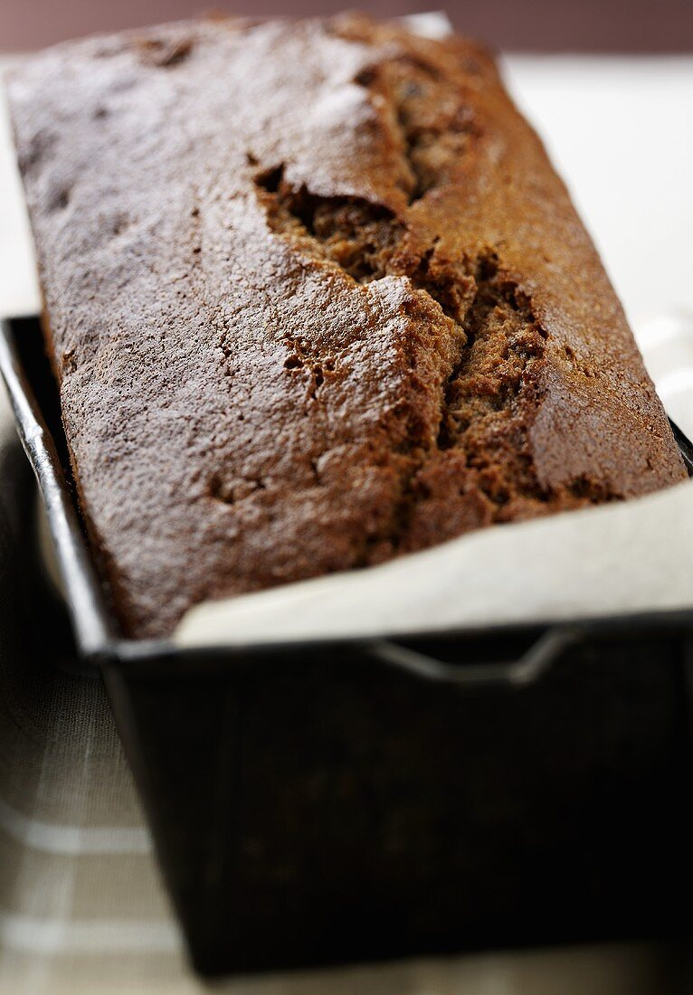 Parkin in a loaf tin (England)