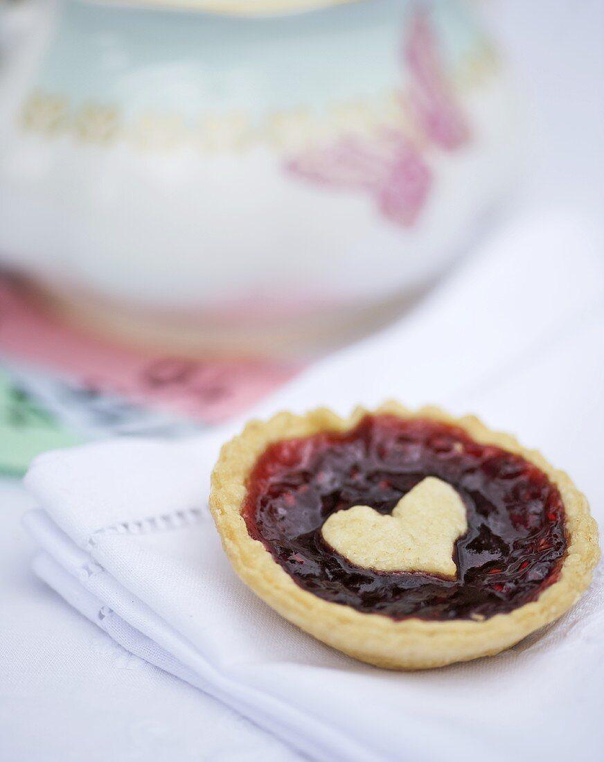 Jam tart with a heart