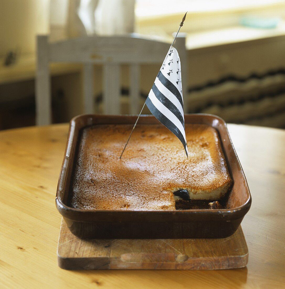 Far Breton (Prune pudding, France)