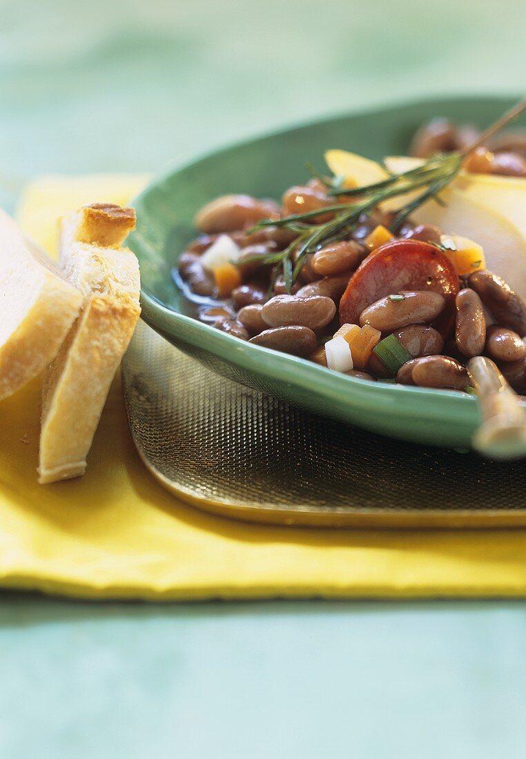 Pinto bean stew with chorizo