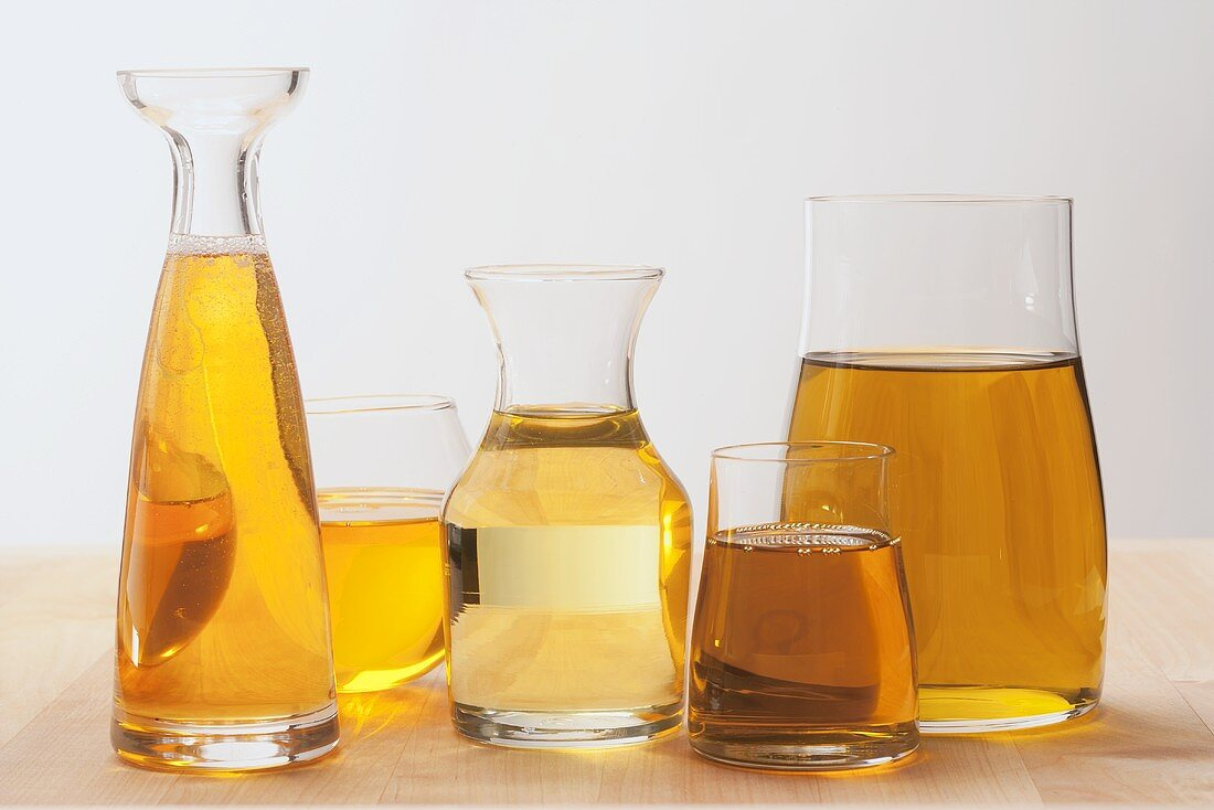 Argan oil, linseed oil, grapeseed oil, rapeseed oil, olive oil