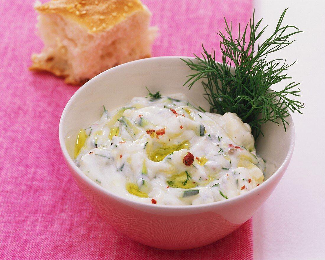 Courgette and Gorgonzola cream