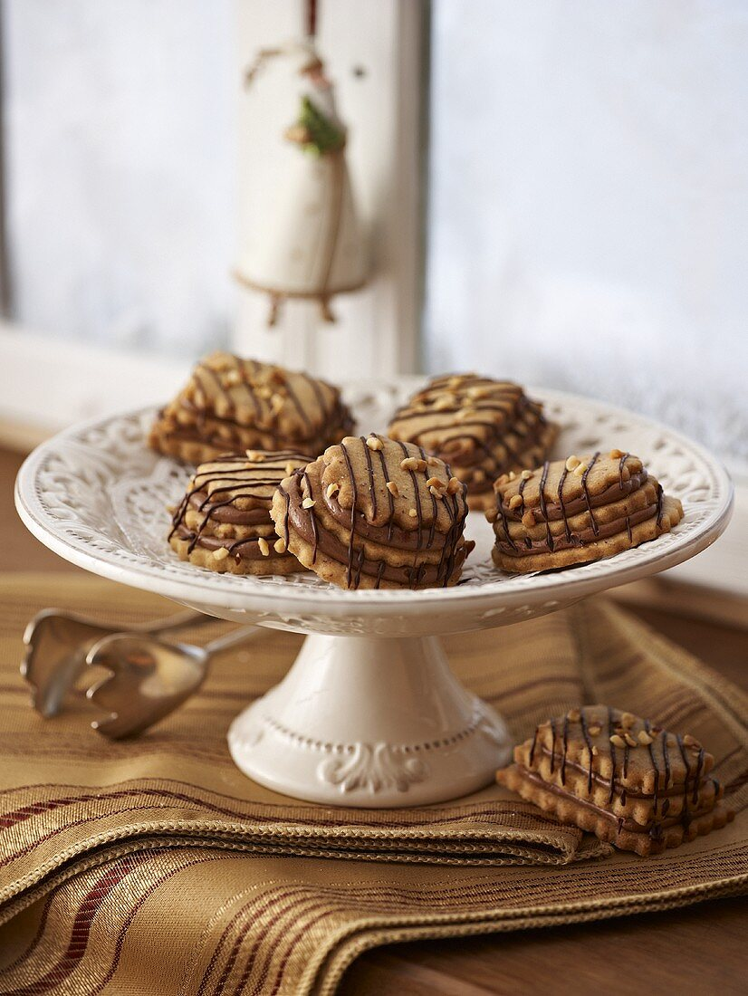 Terrace biscuits with chocolate filling