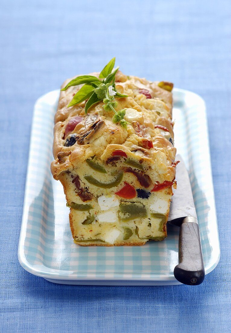 Savoury pepper and feta loaf