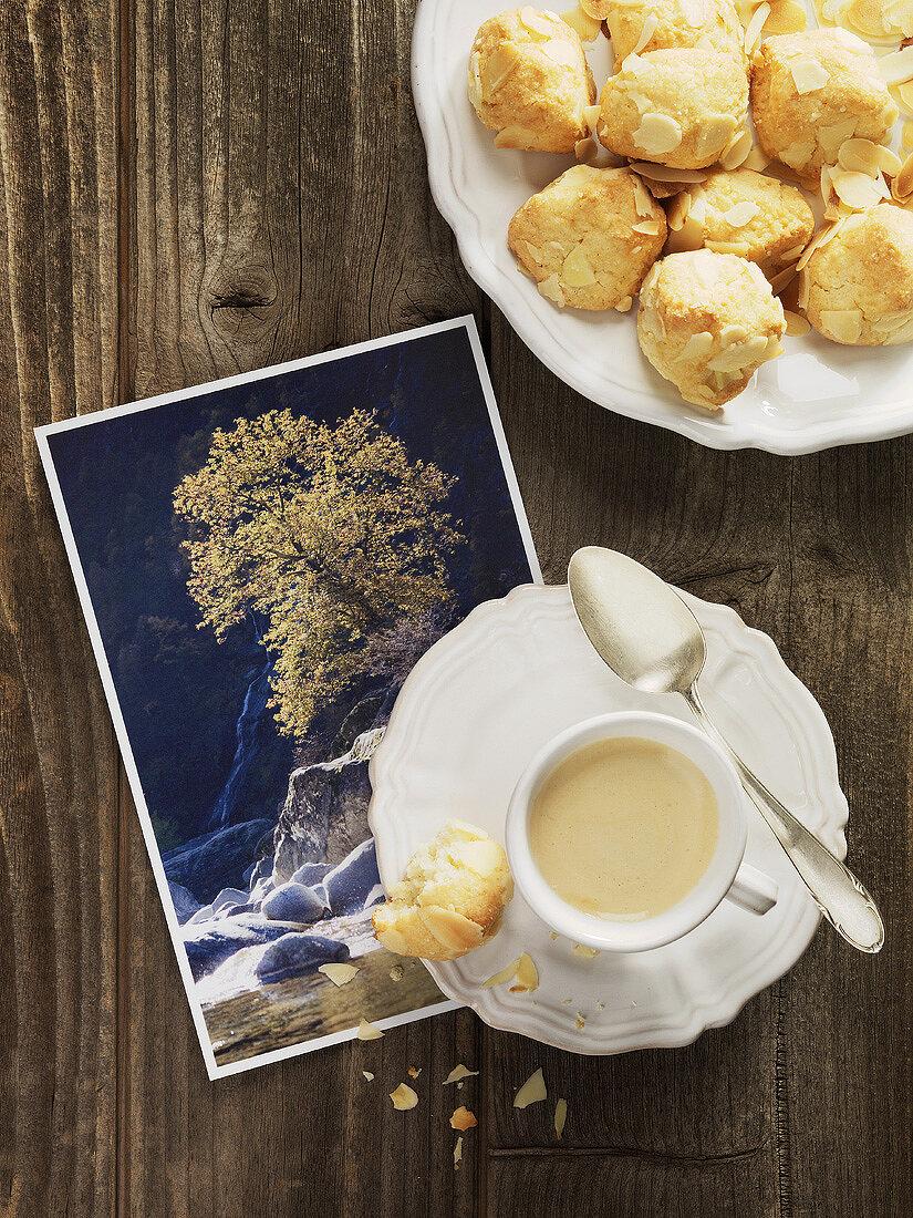 Amaretti from Maggia Valley (Switzerland) & cup of espresso