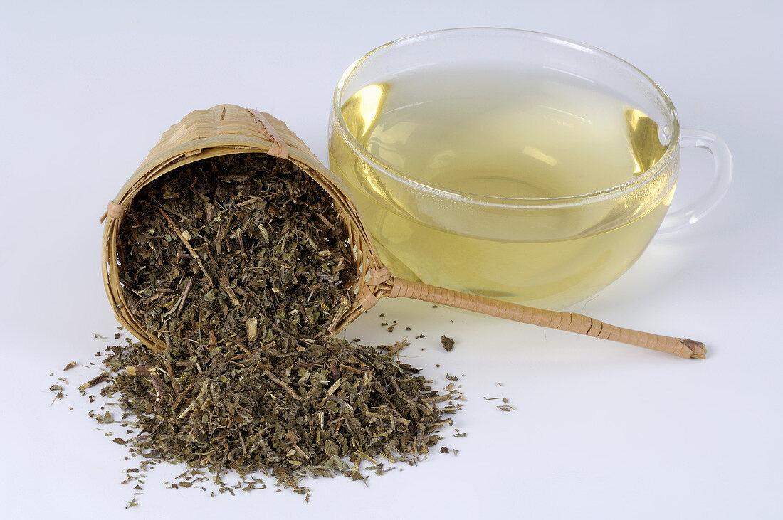 Holy basil tea (Ocimum sanctum, also called Tulsi)