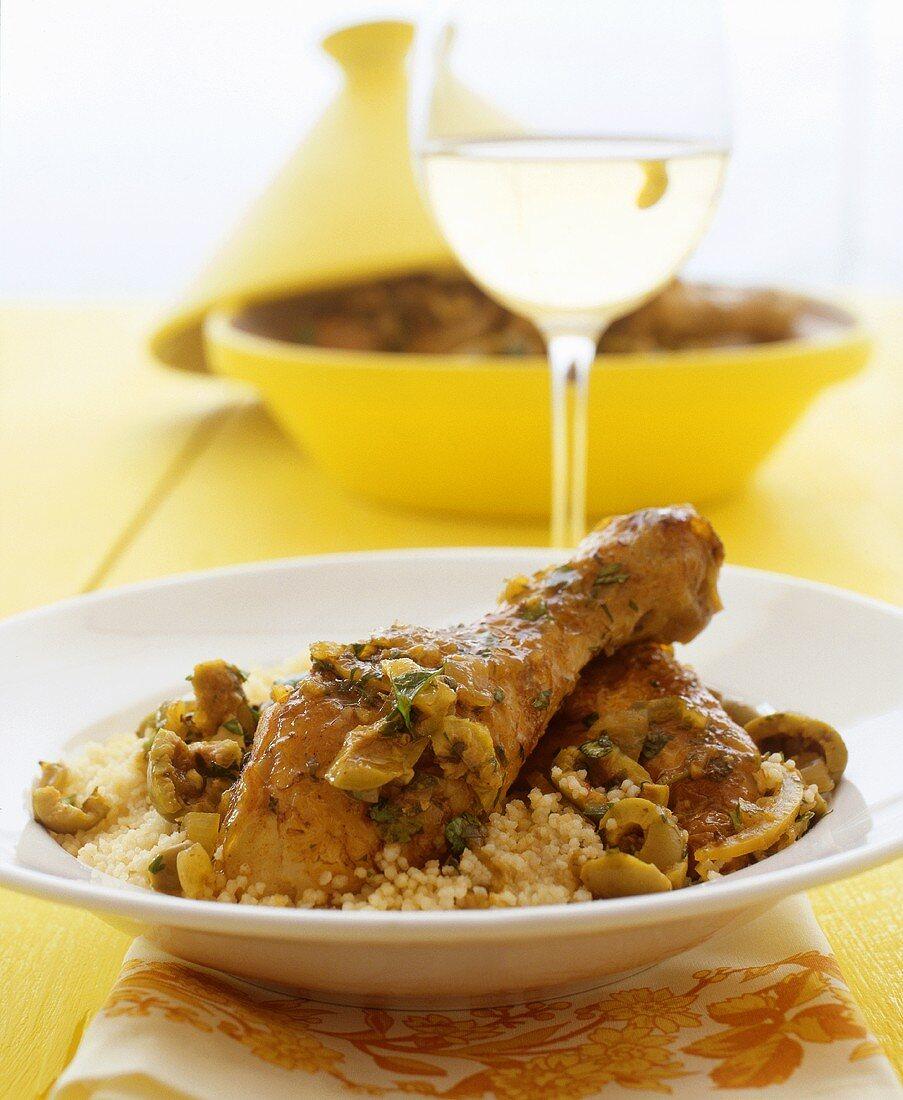 Chicken tajine with olives and lemon
