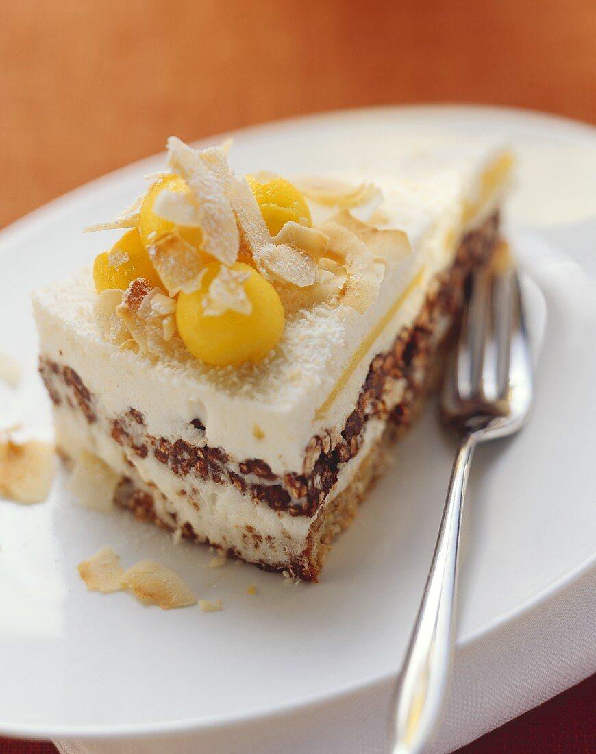 Creole mango and pecan cake