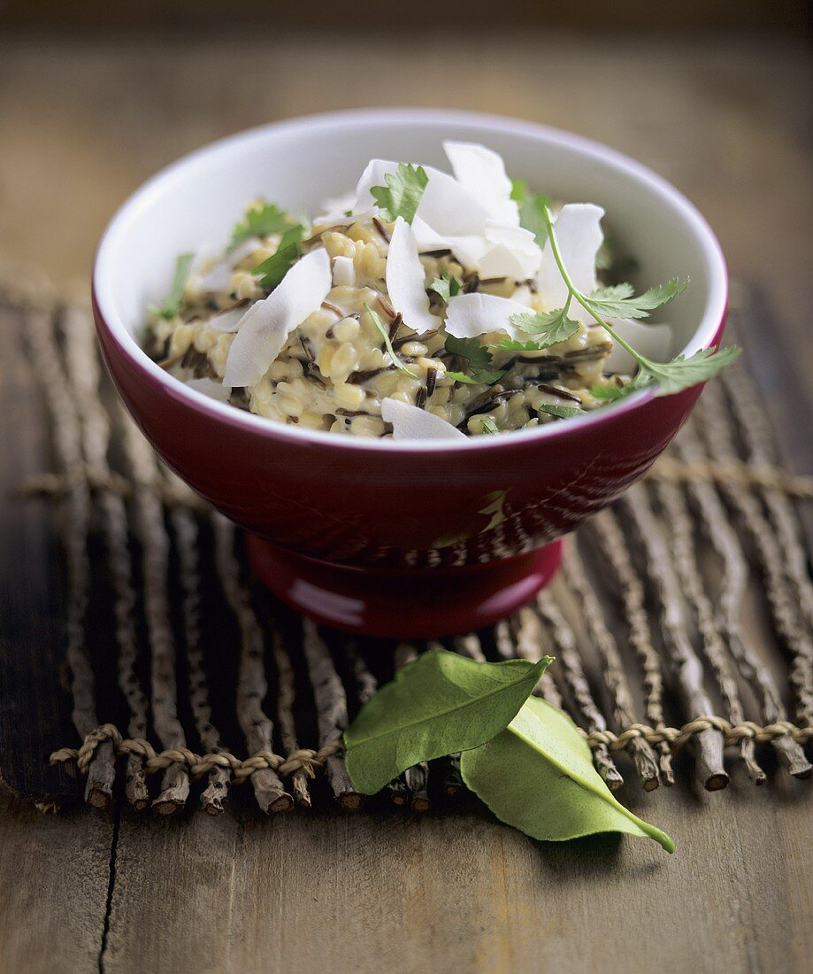 Rice and lentils with coconut