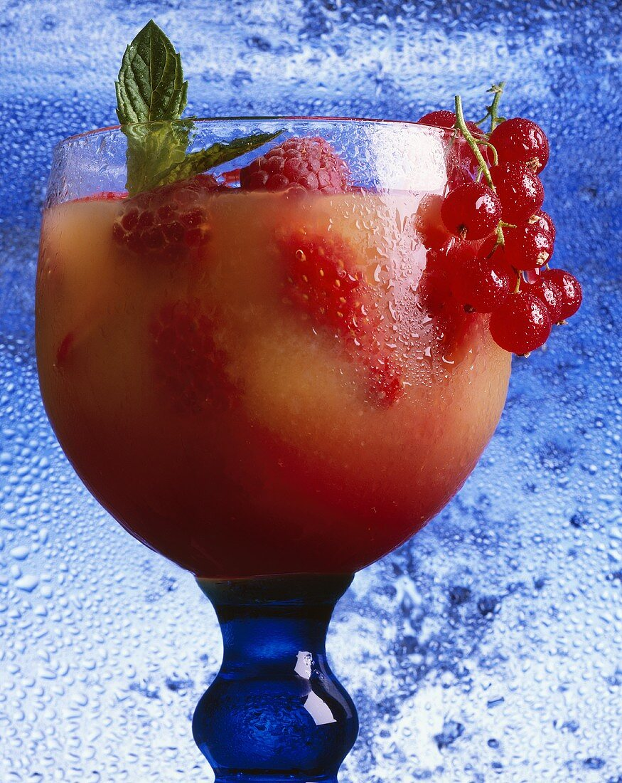 Non-alcoholic drink with red berries