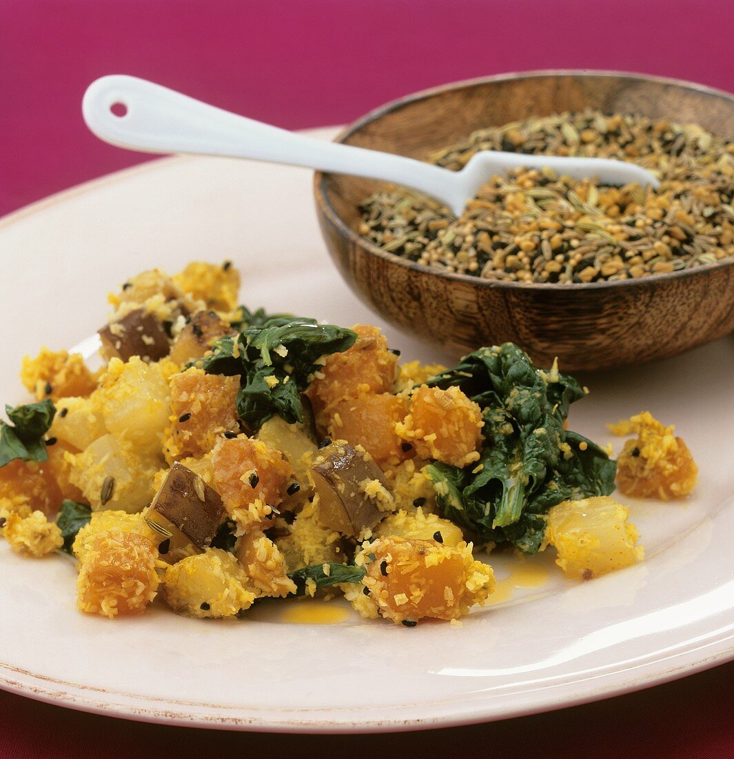 Pan-cooked vegetables (Bengal)
