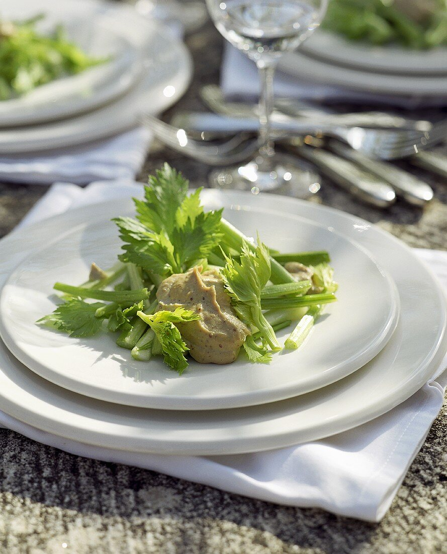 Celery salad with tonnato