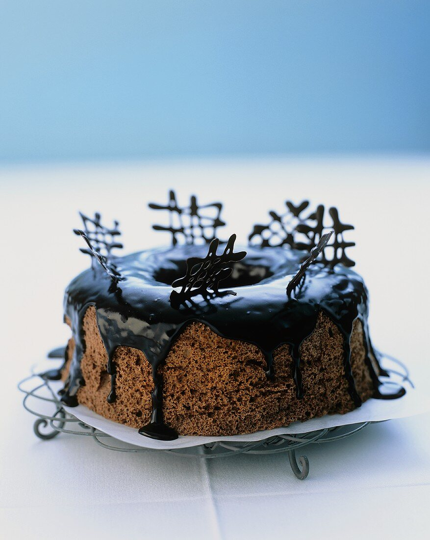Chocolate angel food cake (USA)