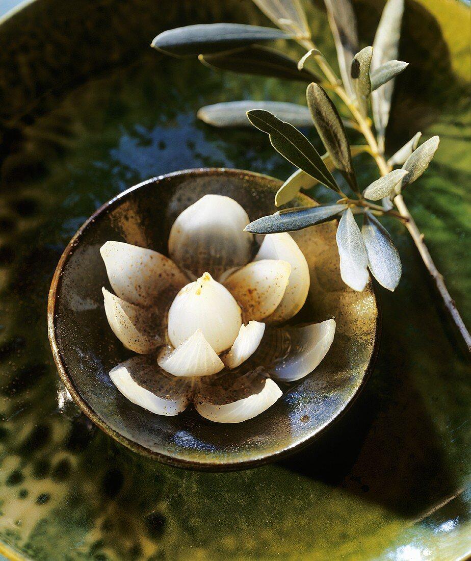 Marinated white onion