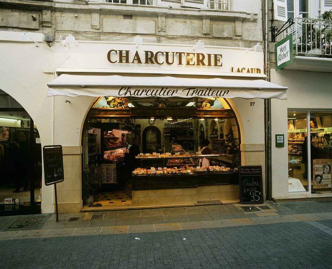 French butcher's shop