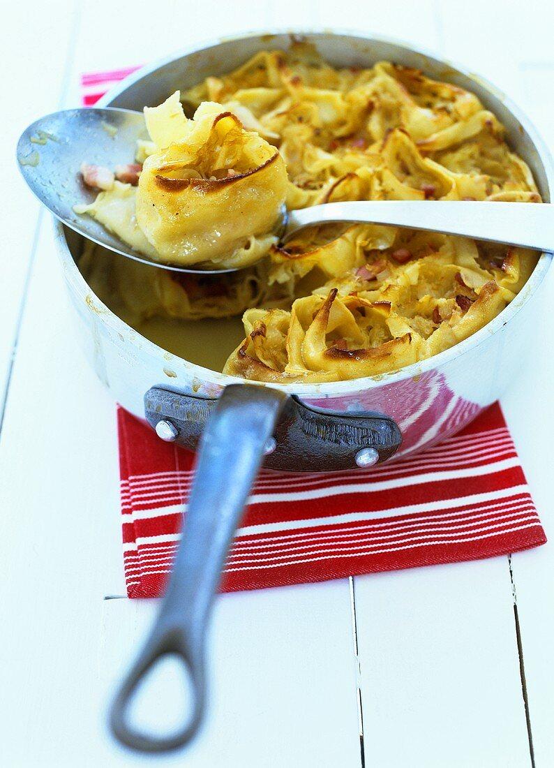 Krautkrapfen (Pasta dough filled with sauerkraut)
