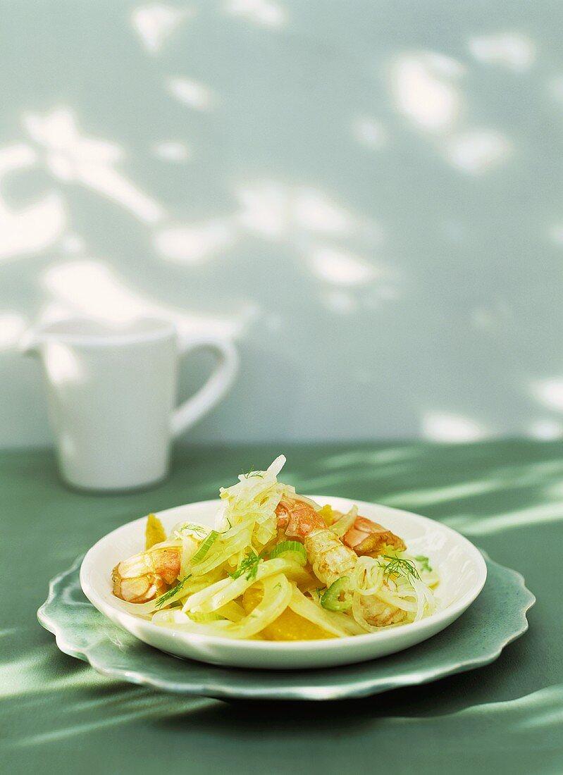 Insalata di arance agli scampi (Orange salad with langoustines)