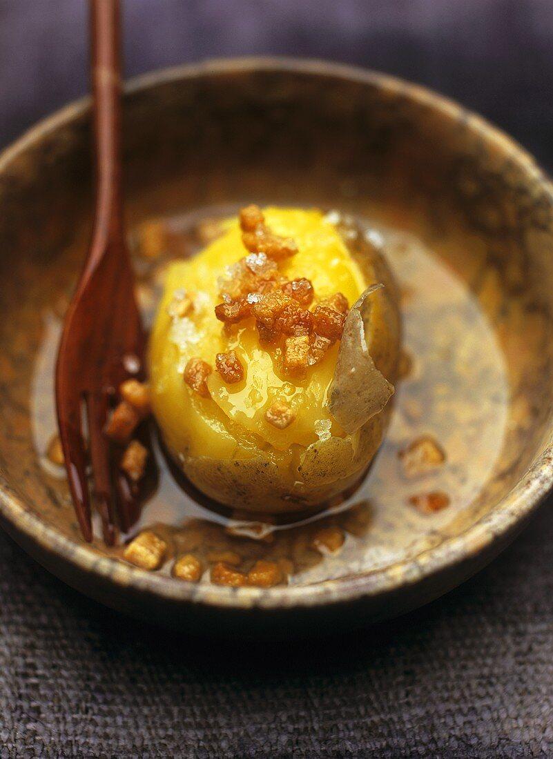 Potato with diced bacon