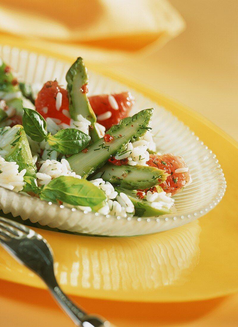 Asparagus and rice salad