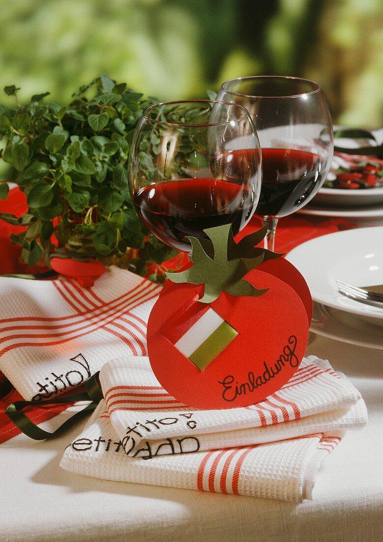 A invitation to an Italian meal