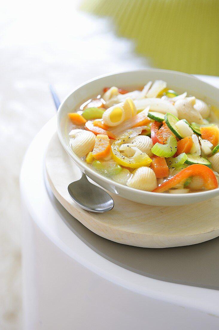 Vegetable soup with noodles (detox diet)