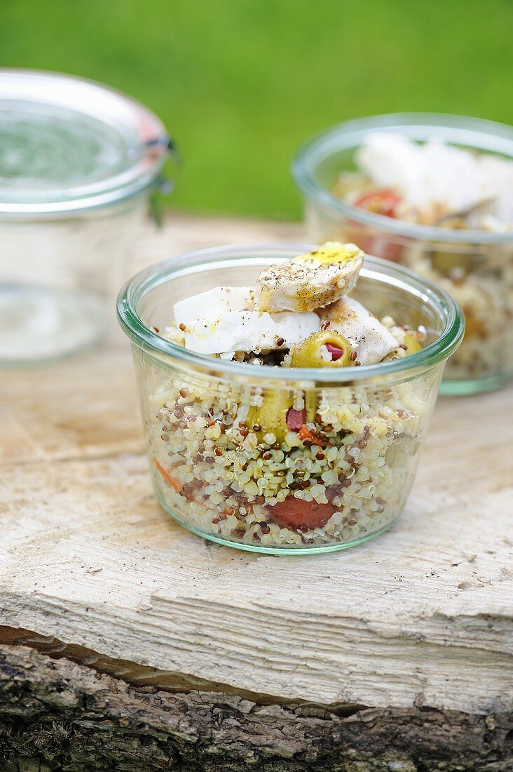 Quinoa tabbouleh with chicken