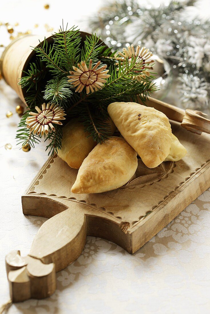 Christmas dough parcels from Poland