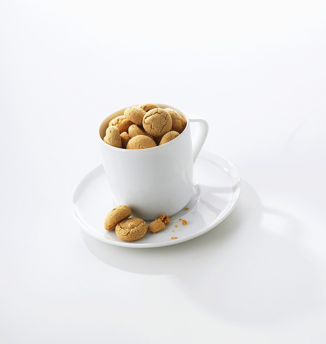 Amaretti (almond biscuits), Lombardy, Italy