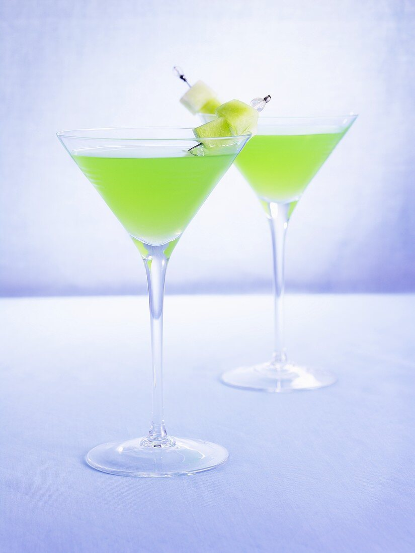 Two Melon Martinis
