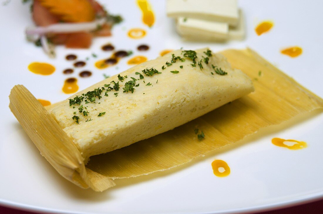 Tamales (Stuffed maize leaves, South America)