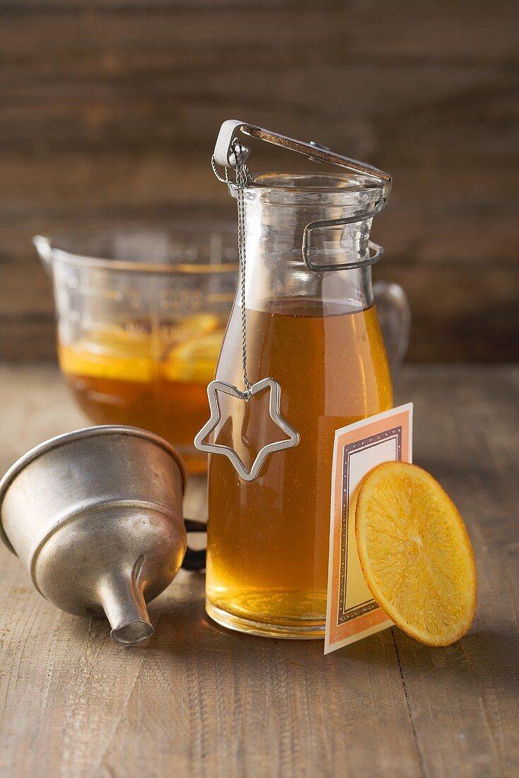 Home-made orange liqueur for Christmas